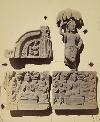 Group of Buddhist sculptures from the upper monastery at Nutta, Peshawar District 10031111
